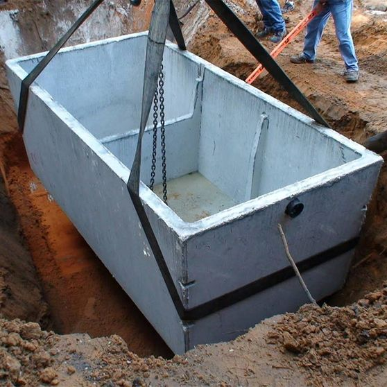 Installing Septic Tank
